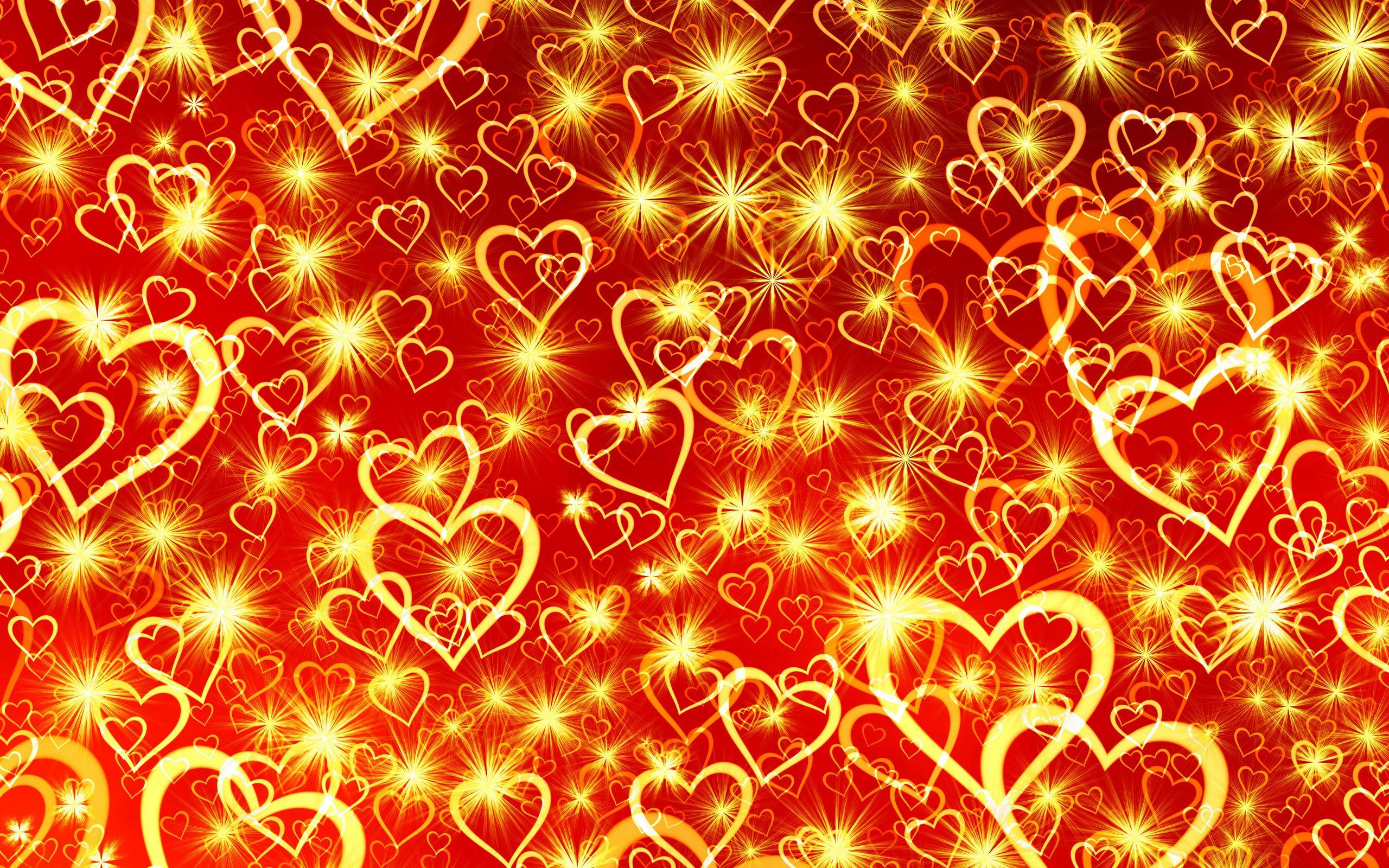 2560x1600 Wallpaper heart, art, shine