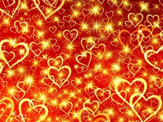 320x240 Wallpaper heart, art, shine