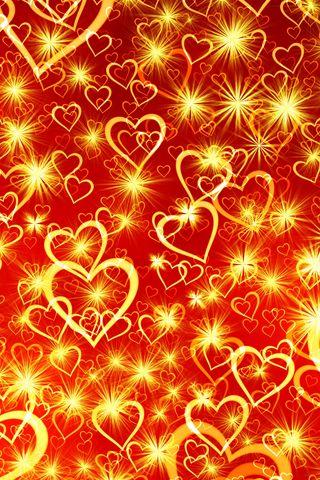 320x480 Wallpaper heart, art, shine