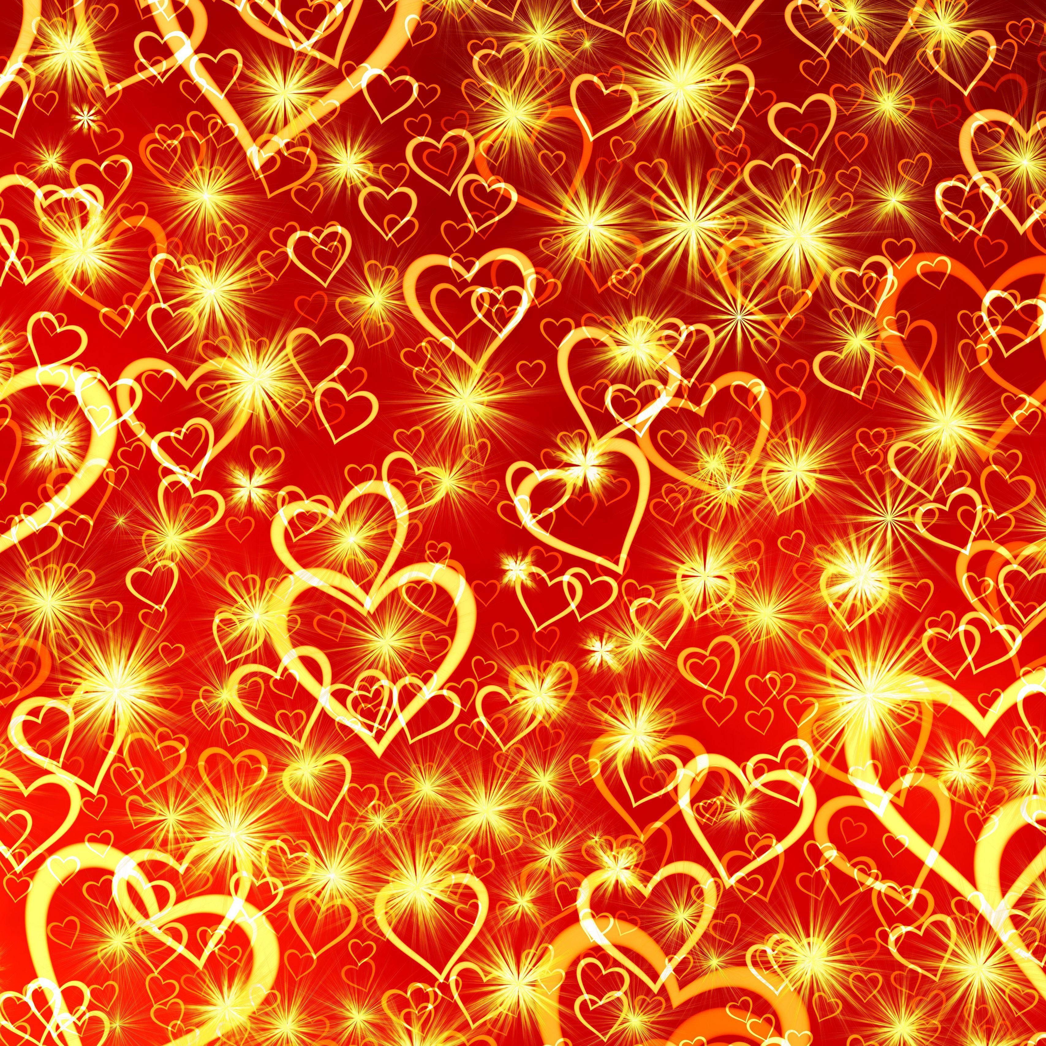 3415x3415 Wallpaper heart, art, shine