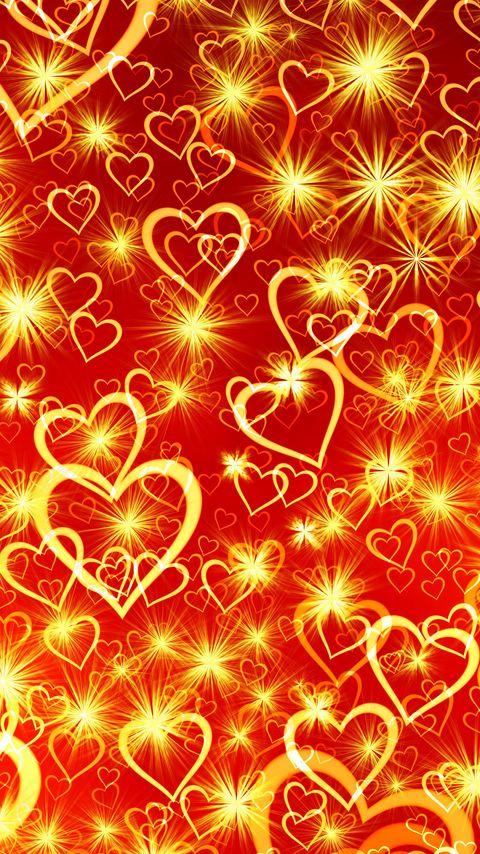 480x854 Wallpaper heart, art, shine