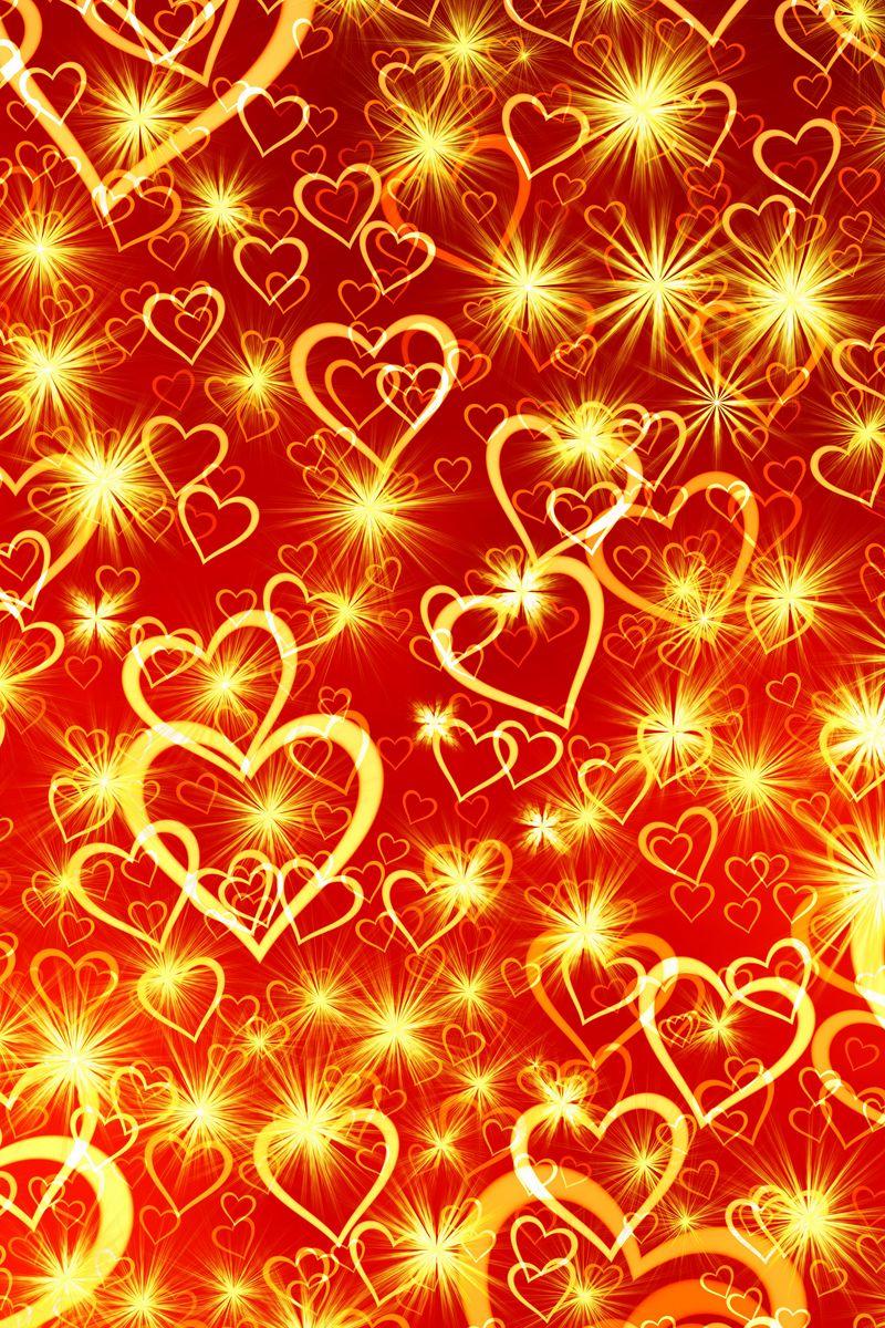 800x1200 Wallpaper heart, art, shine