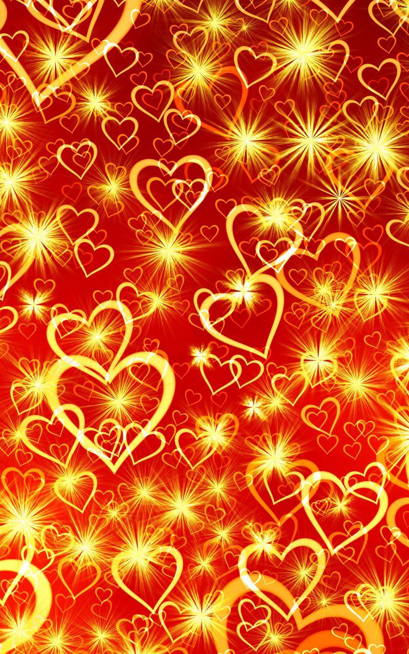 800x1280 Wallpaper heart, art, shine
