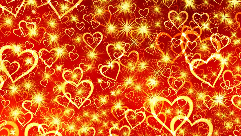 960x544 Wallpaper heart, art, shine