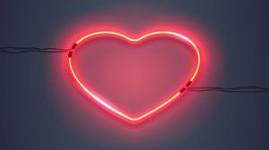 Preview wallpaper heart, backlight, neon