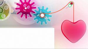 Preview wallpaper heart, figures, plastic, mechanism