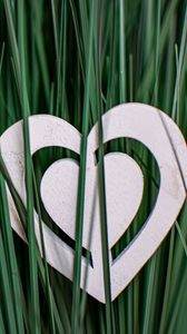 Preview wallpaper heart, grass, love