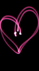 Preview wallpaper heart, light, love