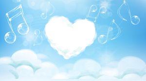 Preview wallpaper heart, melody, music, light