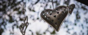 Preview wallpaper heart, metal, garland, love