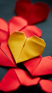 Preview wallpaper heart, origami, love, paper
