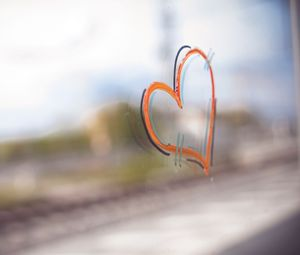 Preview wallpaper heart, paint, glass, love