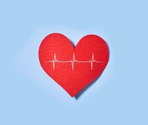 Preview wallpaper heart, paper, pulse, line, love