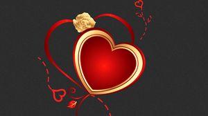 Preview wallpaper heart, pattern, light, background