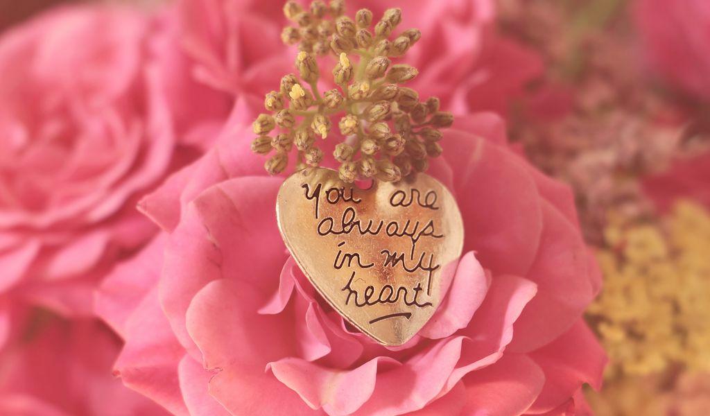 1024x600 Wallpaper heart, pendant, love, inscription, confession, romance