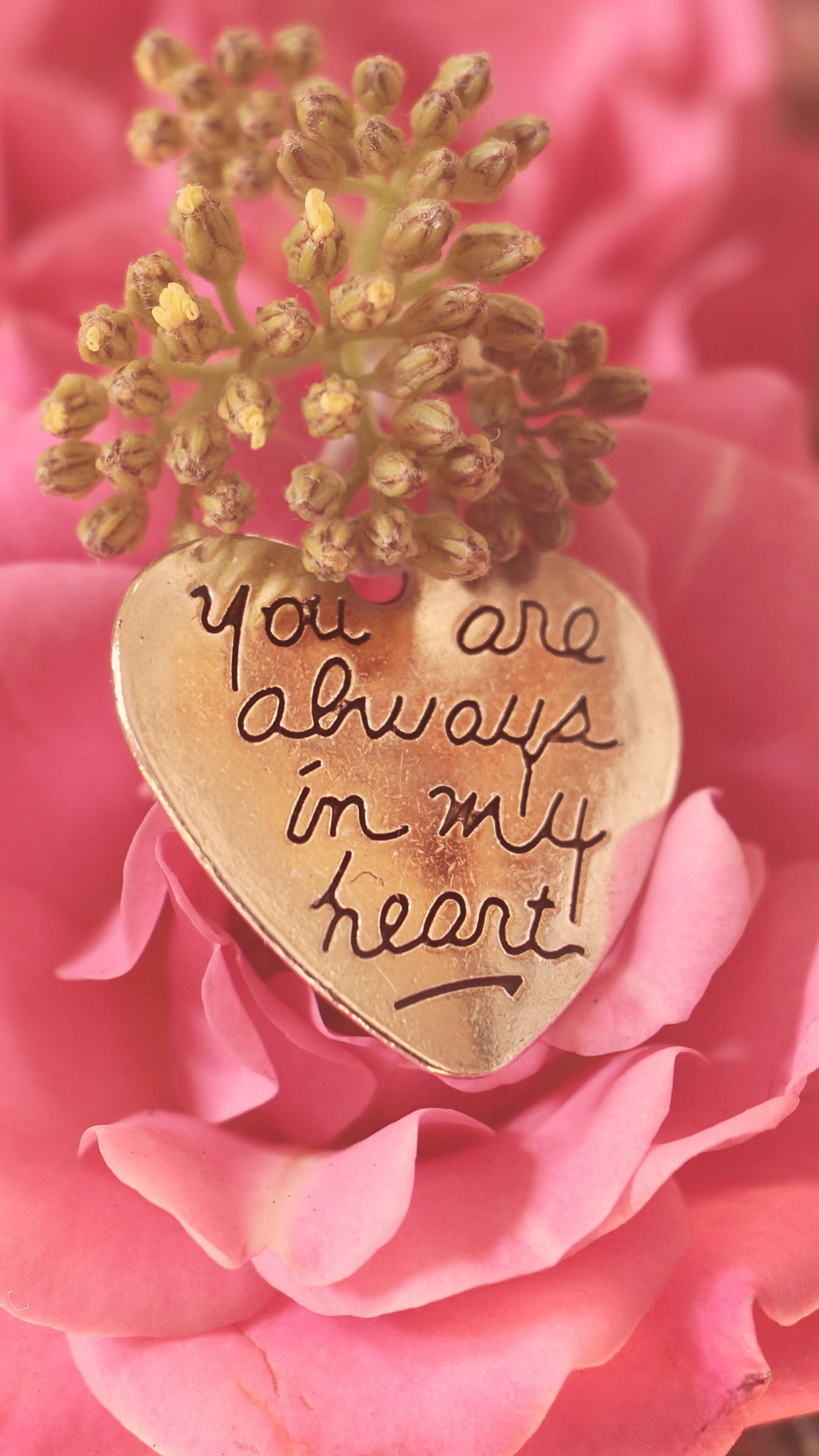 1350x2400 Wallpaper heart, pendant, love, inscription, confession, romance