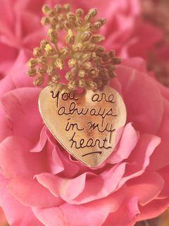 240x320 Wallpaper heart, pendant, love, inscription, confession, romance