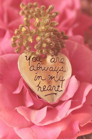 320x480 Wallpaper heart, pendant, love, inscription, confession, romance