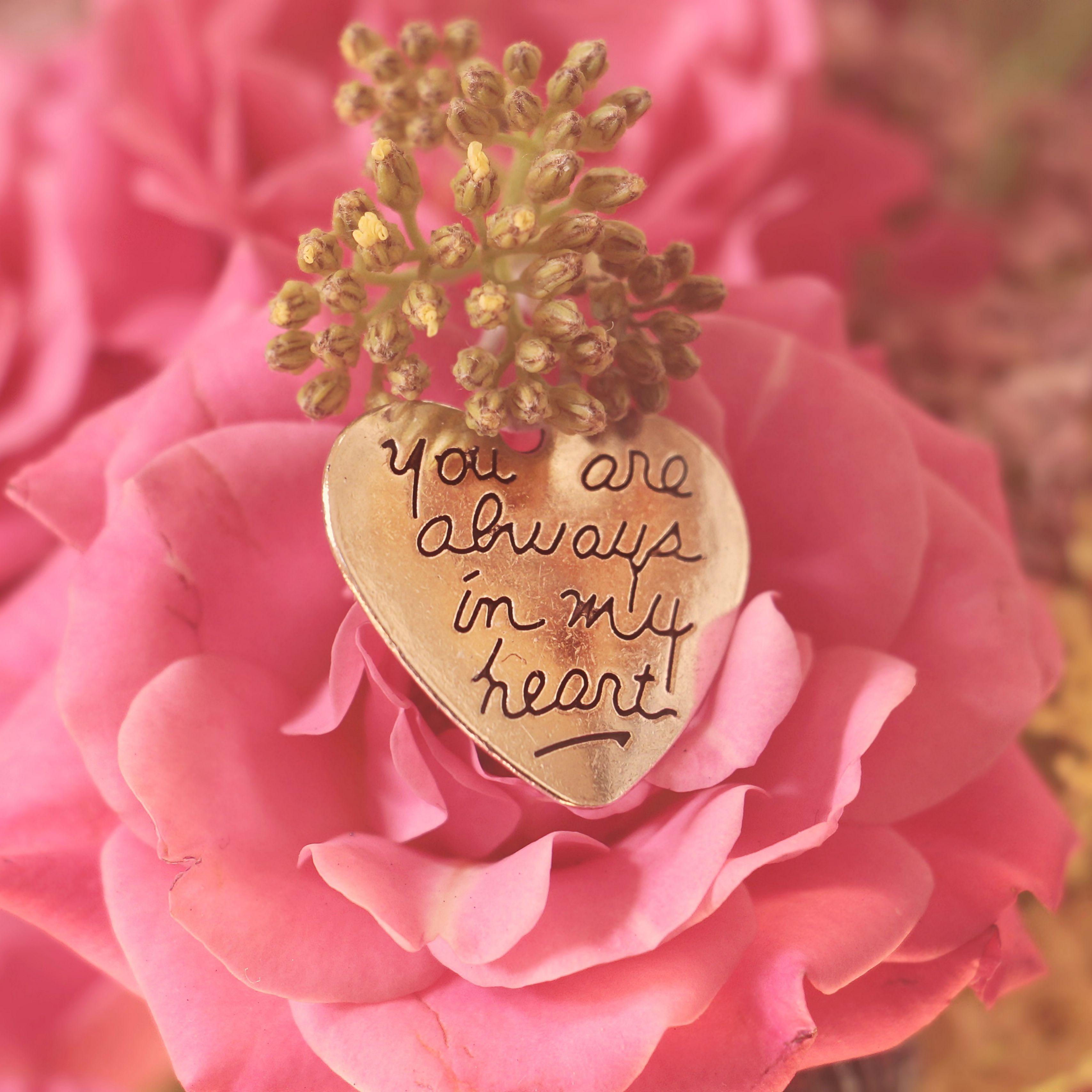 3415x3415 Wallpaper heart, pendant, love, inscription, confession, romance