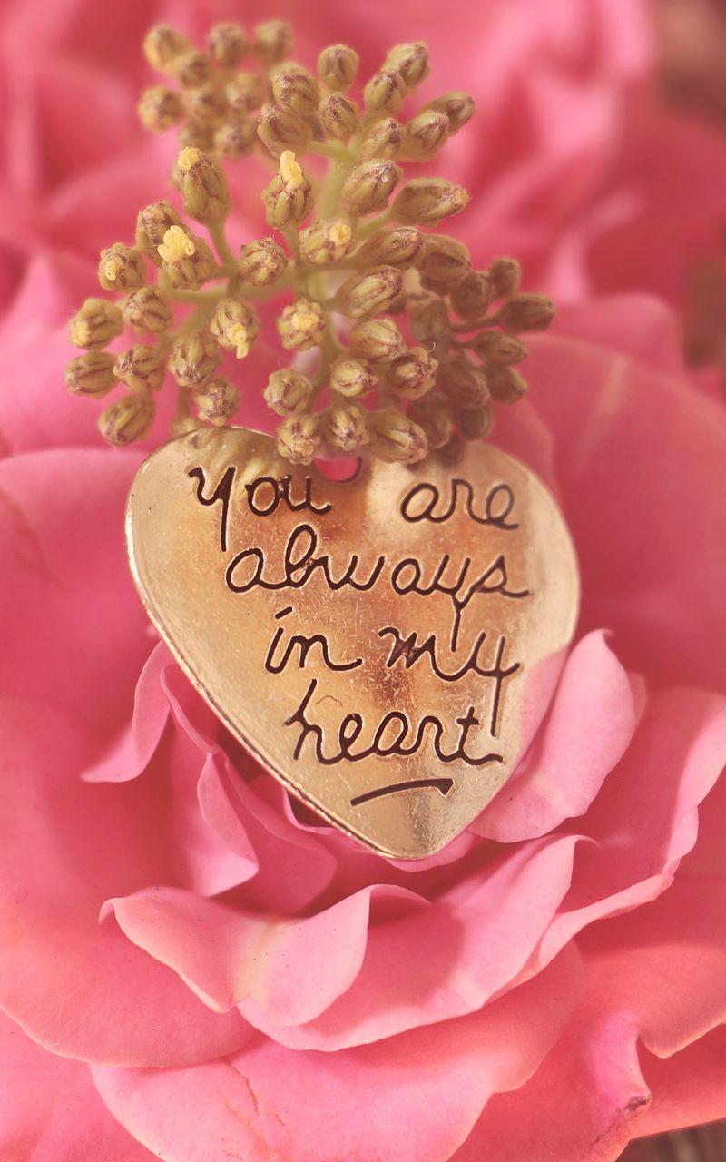 800x1280 Wallpaper heart, pendant, love, inscription, confession, romance