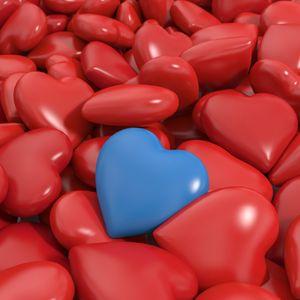 Preview wallpaper heart, red, blue, 3d