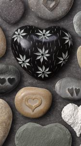 Preview wallpaper heart, rocks, attributes, crafts, love