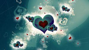 Preview wallpaper heart, romance, bright