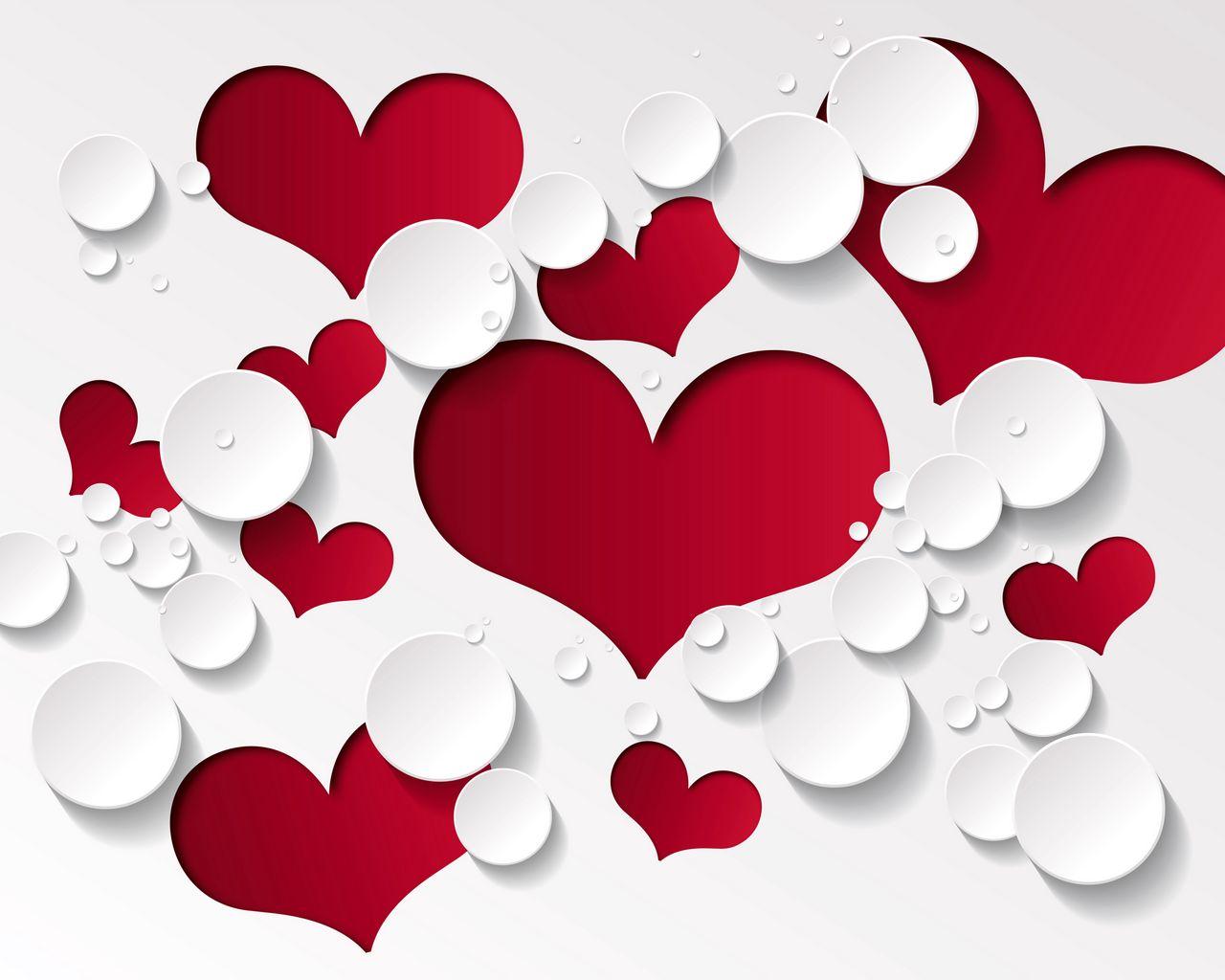 1280x1024 Wallpaper heart, shape, pattern