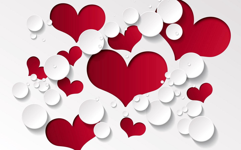 1440x900 Wallpaper heart, shape, pattern