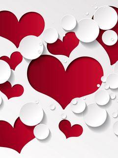 240x320 Wallpaper heart, shape, pattern