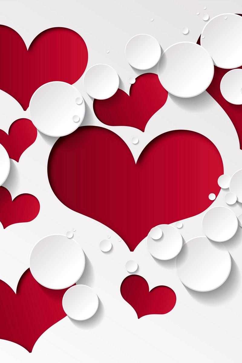 800x1200 Wallpaper heart, shape, pattern