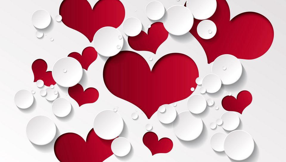 960x544 Wallpaper heart, shape, pattern