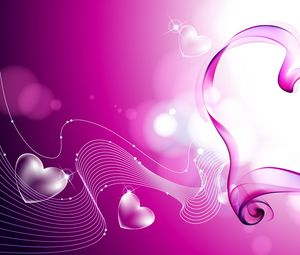 Preview wallpaper heart, smoke, love, mist, lavender
