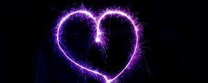 Preview wallpaper heart, sparks, shape, shine