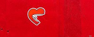 Preview wallpaper heart, wall, red, sticker