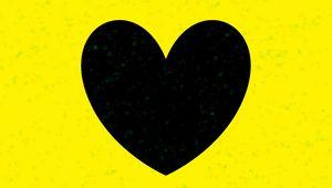 Preview wallpaper heart, yellow, glitter, art