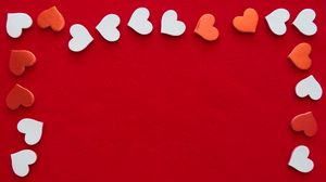 Preview wallpaper hearts, frame, love, red