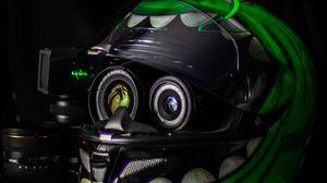 Preview wallpaper helmet, lenses, camera