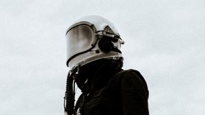 Preview wallpaper helmet, mask, smoke, shroud