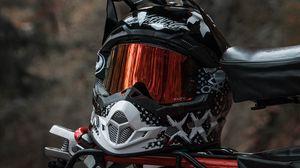 Preview wallpaper helmet, motorcycle, bike