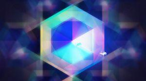 Preview wallpaper hexagon, geometric, deer, art