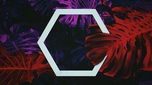Preview wallpaper hexagon, leaves, geometry, shape