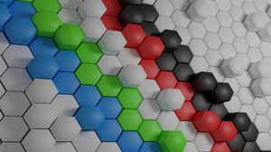 Preview wallpaper hexagon, shaped, surface