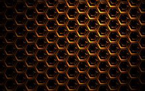 Preview wallpaper hexagons, mesh, dark, shadows
