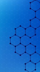 Preview wallpaper hexagons, shape, connections, geometric