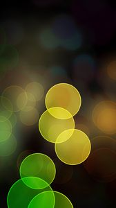 Preview wallpaper highlights, circles, colorful