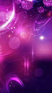 Preview wallpaper highlights, circles, shine, background, bright