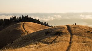 Preview wallpaper hills, mountains, path, landscape, height