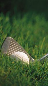 Preview wallpaper hockey stick, ball, grass, golf