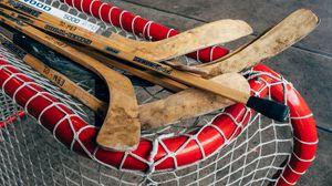 Preview wallpaper hockey sticks, gates, hockey